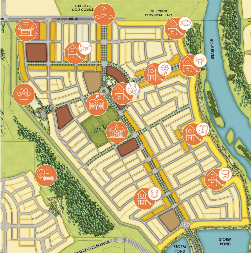 Wolf Willow Amenities Map on mobile