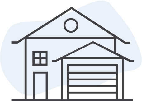 Find your home style front garage logo