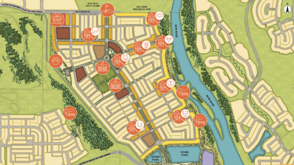 map of wolf willow's future parks