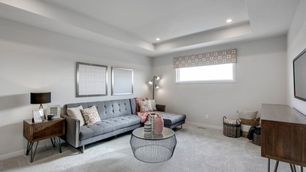 trico oxford flex room styled as a secondary living room